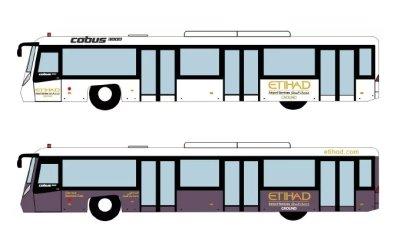 Fantasy Wings 1:400 阿提哈德航空 Cobus 3000 机场巴士4辆