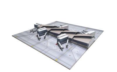 洛杉矶国际机场 汤姆·布莱德雷国际航站楼 南段 40x40cm