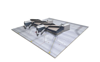 洛杉矶国际机场 汤姆·布莱德雷国际航站楼 北段 40x40cm