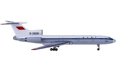 Yu ModeL 1:400 CAAC 中国民航 Tupolev Tu-154M B-2609