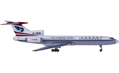 Yu ModeL 1:400 China Southwest Airlines 中国西南航空 Tupolev Tu-154M B-2616