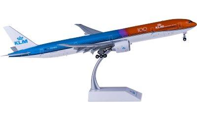 KLM 荷兰皇家航空 Boeing 777-300ER PH-BVA 100周年 橙色的骄傲 襟翼打开
