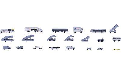 AeroClassics 1:400 中国南方航空地勤车套装21件