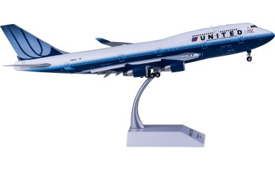 United Airlines 美国联合航空 Boeing 747-400 N199UA 襟翼打开