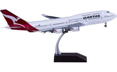 Qantas 澳洲航空 Boeing 747-400ER VH-OEH Hervey Bay 襟翼打开