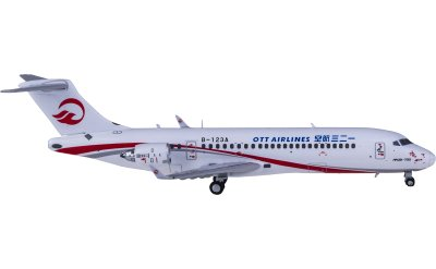 Ngmodel 1:400 OTT Airlines 一二三航空 Comac ARJ21-700 B-123A
