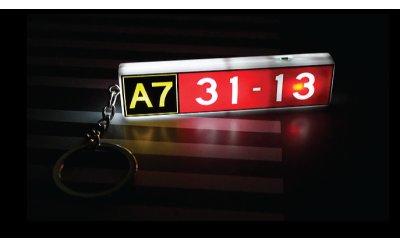 启德机场滑行道标志 发光钥匙串