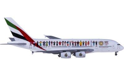 Geminijets 1:400 Emirates 阿联酋航空 Airbus A380 A6-EVB 联合国宽容年