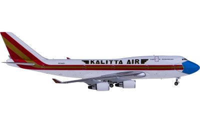 Phoenix 1:400 Kalitta Air 卡利塔航空 Boeing 747-400 N744CK 口罩彩绘