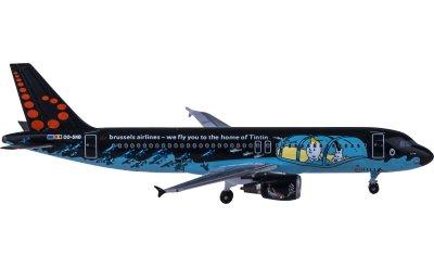 AeroClassics 1:400 布鲁塞尔航空 Airbus A320 OO-SNB 丁丁
