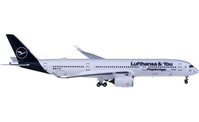 Ngmodel 1:400 Lufthansa 汉莎航空 Airbus A350-900 D-AIXP Lufthansa & You