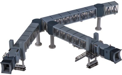 JC Wings 1:400 2臂登机桥 透明