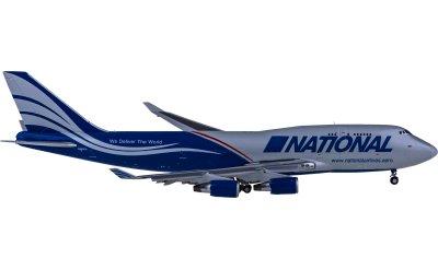National Airlines Boeing 747-400BCF N952CA 货机 襟翼打开