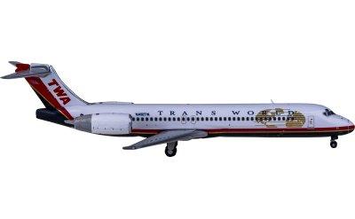 Geminijets 1:400 TWA 环球航空 Boeing 717-200 N418TW