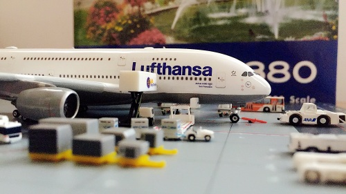 "Lufthansa 汉莎航空 Airbus A380-800 D-AIMN Named by ""San Francisco"" PH04084 Phoenix 1:400"
