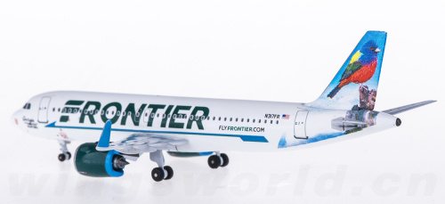 Frontier Airlines 边疆航空 Airbus A320 N317FR 丽彩鹀 AC419294 AeroClassics 1:400