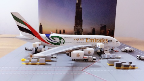 """Emirates 阿联酋航空 Airbus A380-800 A6-EDN """"Rugby World Cup 2011""""Colors PH4A6EDN Phoenix 1:400"""