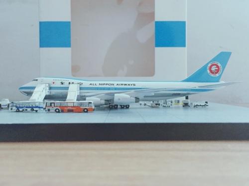ANA 全日空 Boeing 747-100 JA8136 1970年代莫西干涂装,美国EzToys定制 BB4-2005-031 Big Bird 1:400