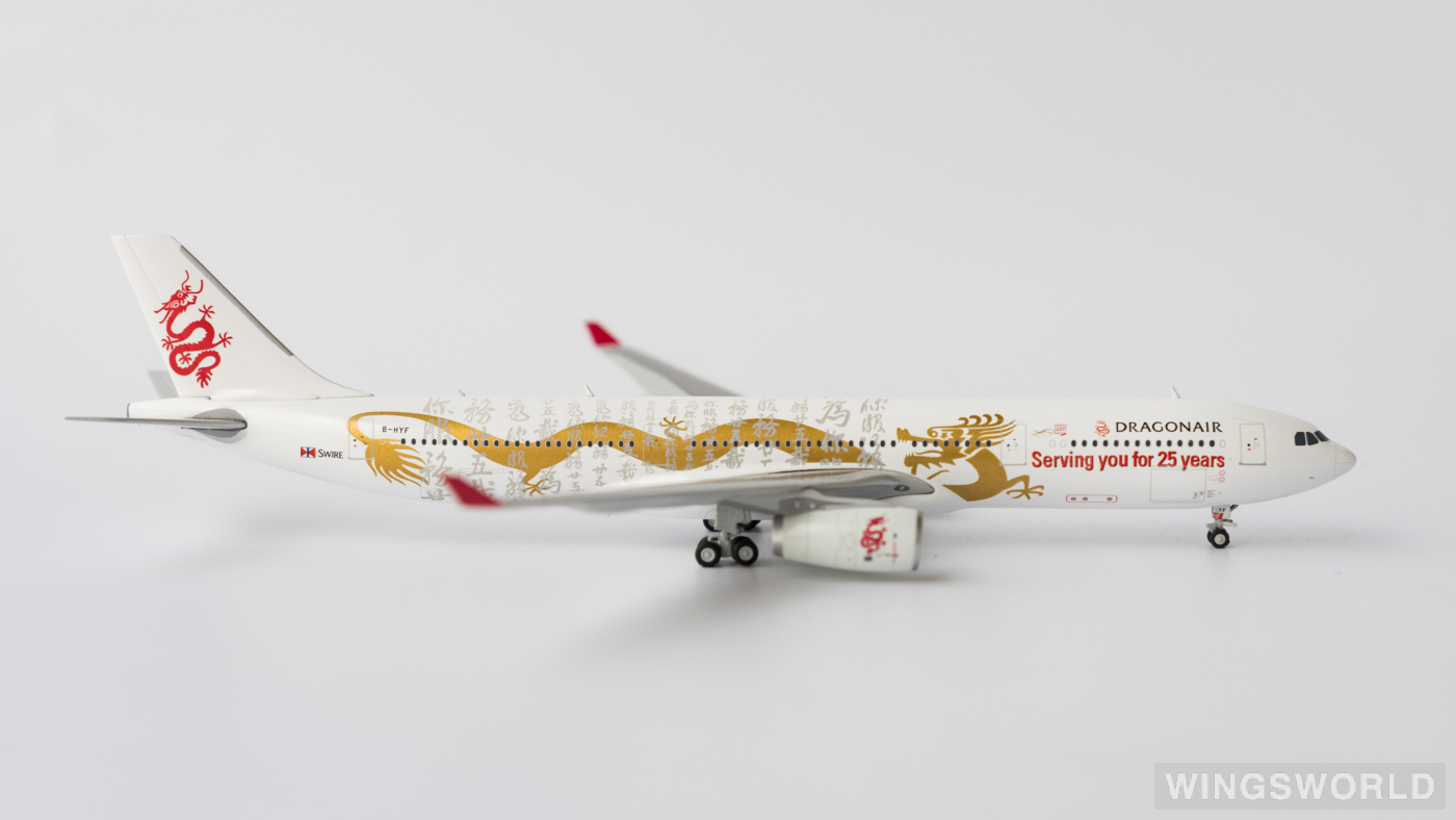 JC Wings 1:400 XX4109 Dragonair 港龙航空 Airbus A330-300 B-HYF