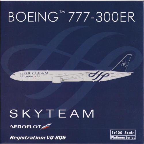 Aeroflot 俄罗斯航空 Boeing 777-300ER VQ-BQG 天合联盟 PH10967 Phoenix 1:400