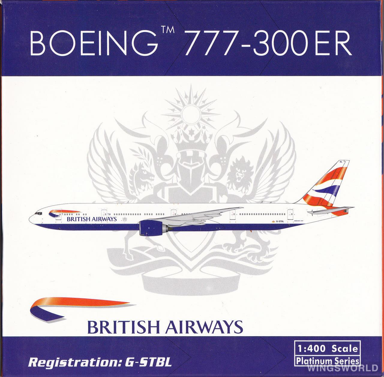 Phoenix 1:400 PH11152 British Airways 英国航空 Boeing 777-300 G-STBL