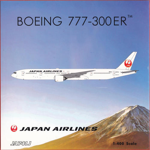 Japan Airlines 日本航空 Boeing 777-300ER JA741J 2011s colors. With rolling gears. With hollow engines. PH04184 Phoenix 1:400