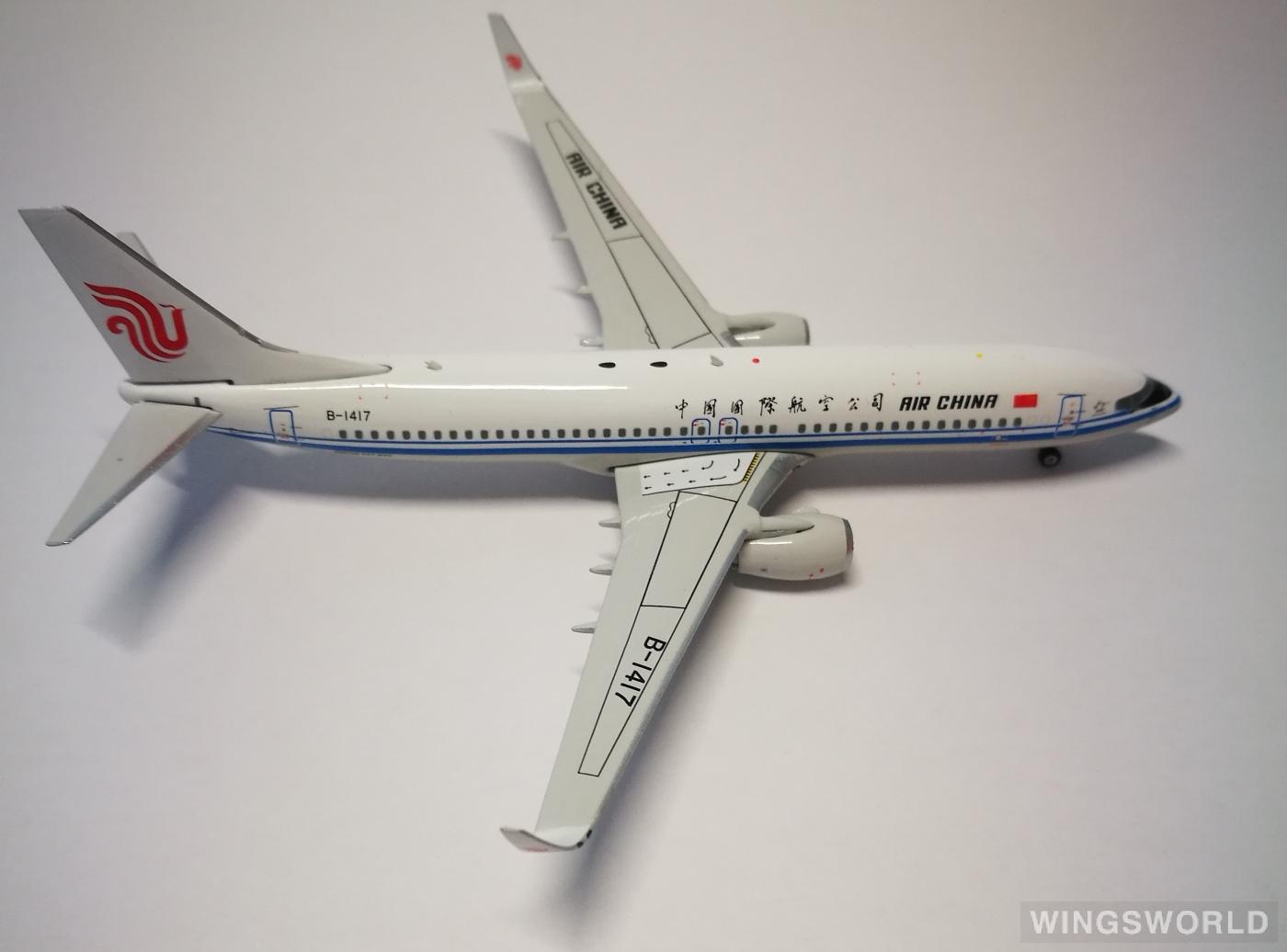 Phoenix 1:400 PH11395 Air China 中国国际航空 Boeing 737-800 B-1417