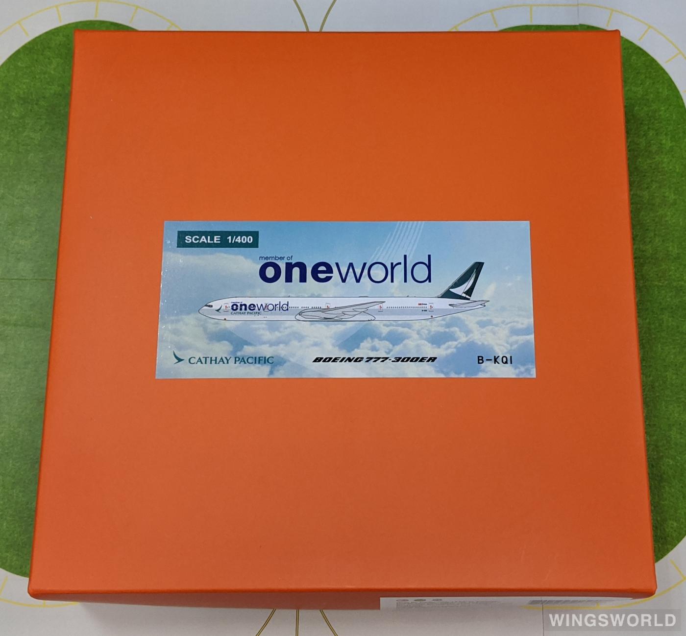 JC Wings 1:400 EW477W003 Cathay Pacific 国泰航空 Boeing 777-300ER B-KQI