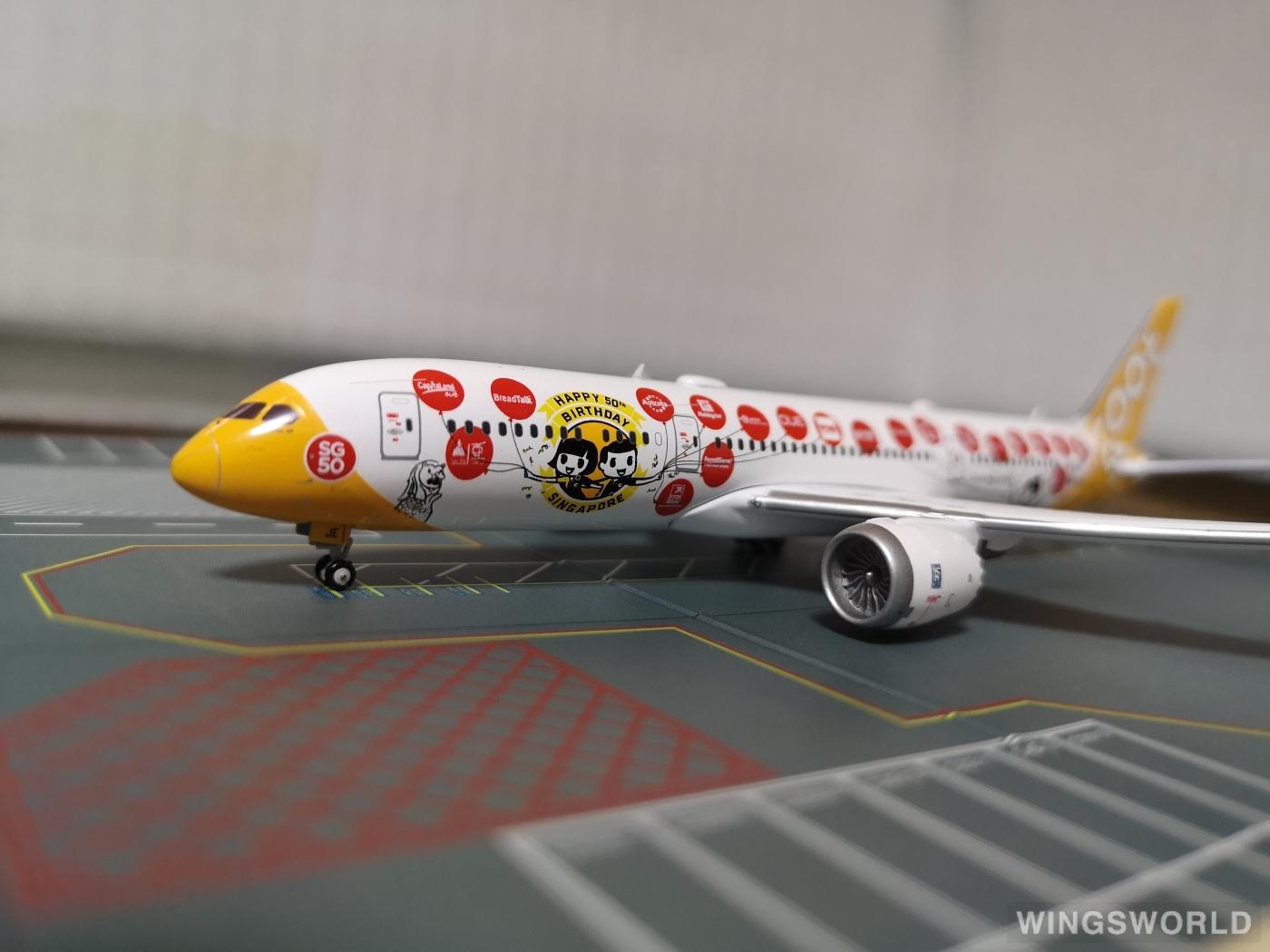 JC Wings 1:400 XX4911 Scoot 酷航 Boeing 787-9 9V-OJE