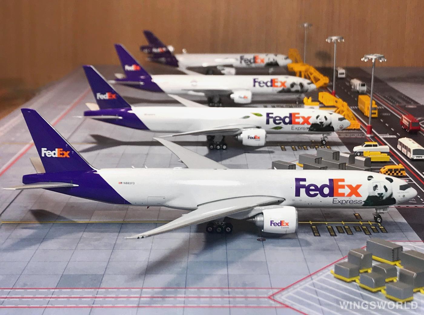 Phoenix 1:400 PH04309 FedEx 联邦快递 Boeing 777-200LR N883FD