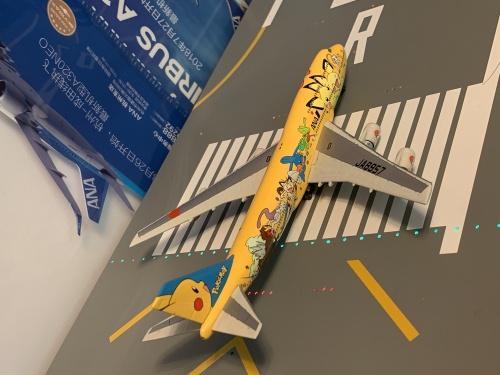 ANA 全日空 Boeing 747-400 JA8957 黄色皮卡丘涂装 NH40010 Hogan 1:400