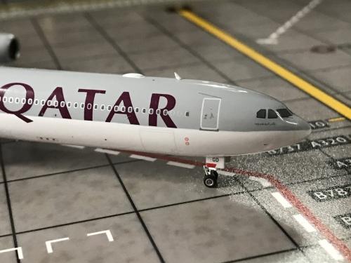 Qatar 卡塔尔航空 Airbus A340-600 A7-AGD  PH11561 Phoenix 1:400