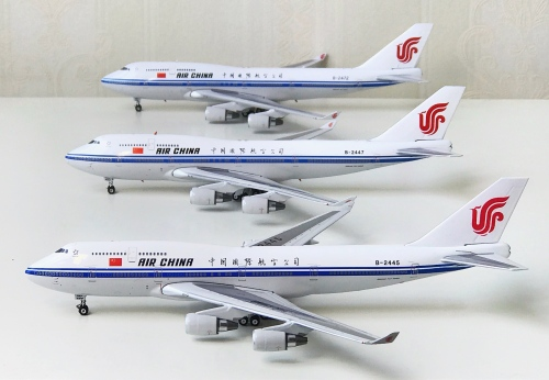 Air China 中国国际航空 Boeing 747-400 B-2445 1990s colors. With rolling gears. PH10549 Phoenix 1:400