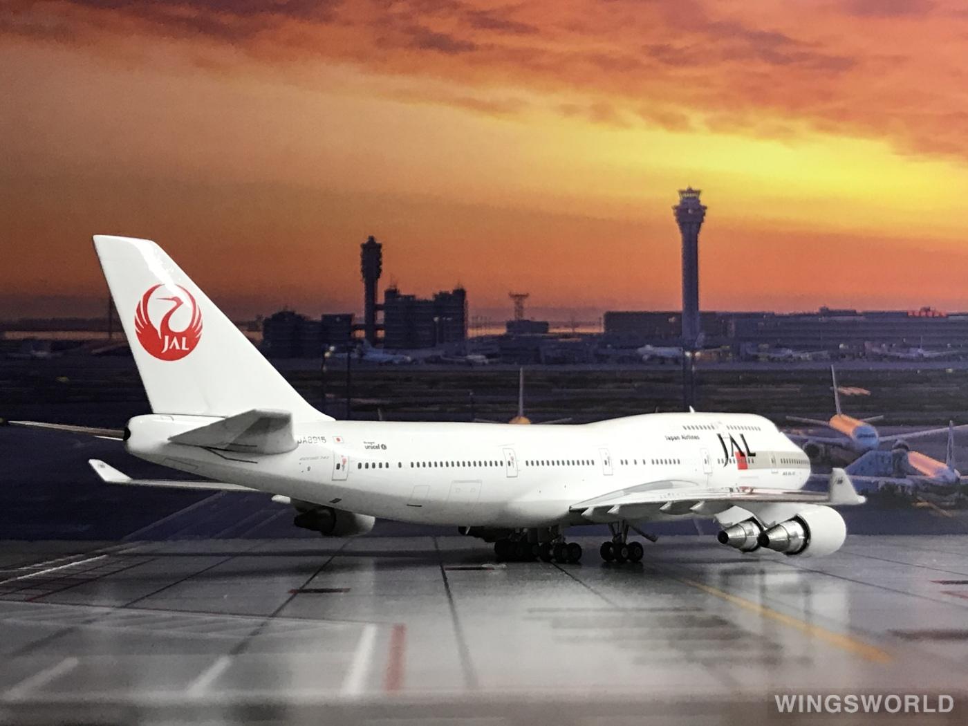 Phoenix 1:400 PH04181 Japan Airlines 日本航空 Boeing 747-400 JA8915