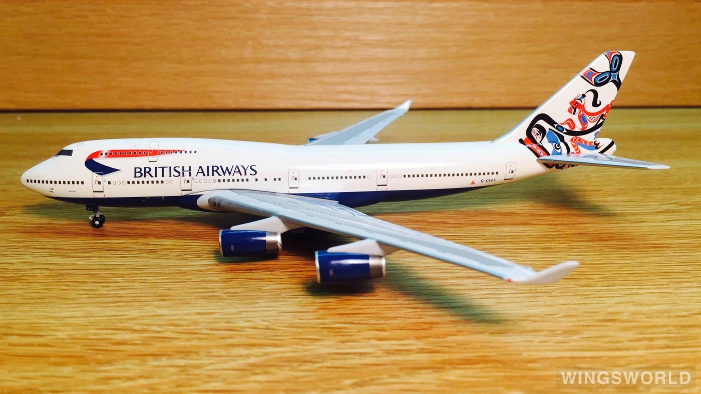 Big Bird 1:400 BB4-2005-XX British Airways 英国航空 Boeing 747-400 G-CIVY