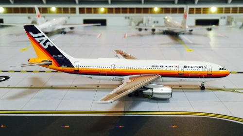 JAS 日本佳速航空 Airbus A300B4/B2 JA8466  BB4-2007-XX Big Bird 1:400