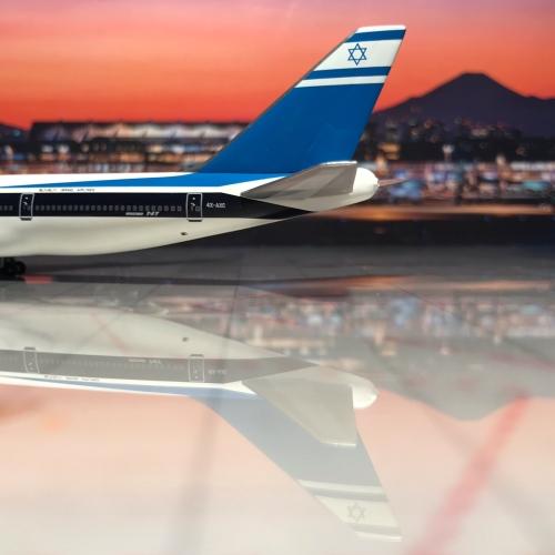 El Al 以色列航空 Boeing 747-200 4X-AXC  AC18107C Big Bird 1:400