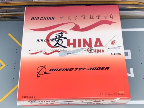 Air China 中国国际航空 Boeing 777-300ER B-2006 爱中国 AV4043 Aviation400 1:400