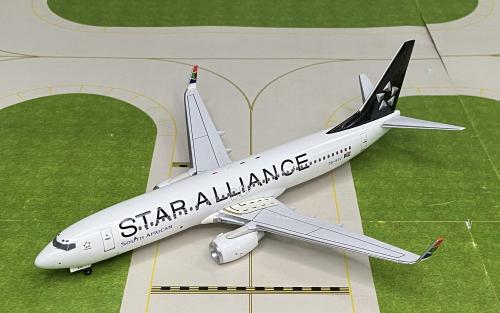"""South African Airways 南非航空 Boeing 737-800 ZS-SJV """"星空联盟""""涂装 BBOXSTAR03 Aviation200 1:200"""