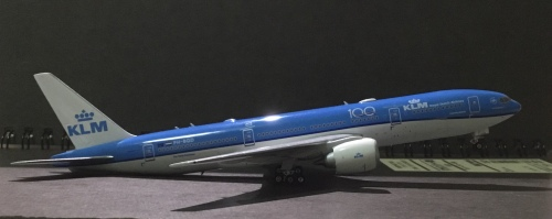 KLM 荷兰皇家航空 Boeing 777-200 PH-BQD 100周年 PH11579 Phoenix 1:400
