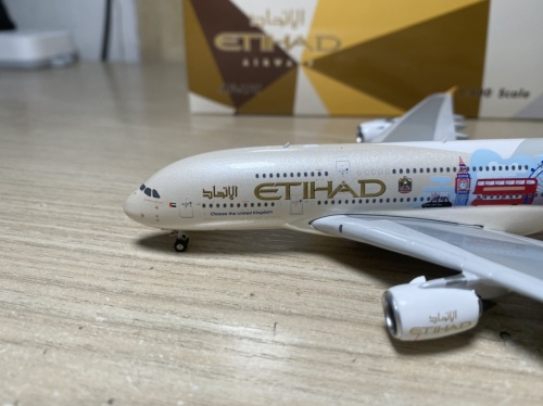 Etihad Airways 阿提哈德航空 Airbus A380-800 A6-APC 英国彩绘 PH04316 Phoenix 1:400