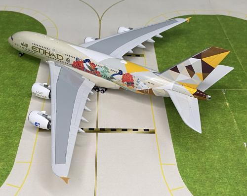Etihad Airways 阿提哈德航空 Airbus A380-800 A6-APD 韩国彩绘 PH04319 Phoenix 1:400