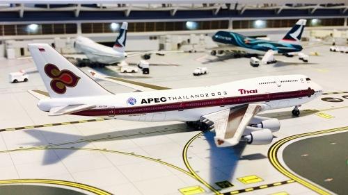 Thai Airways 泰国国际航空 Boeing 747-400 HS-TGH  BB4-2004-18 Big Bird 1:400
