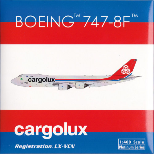Cargolux 卢森堡货运航空 Boeing 747-8 LX-VCN 50周年 PH11606 Phoenix 1:400