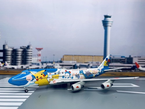 ANA 全日空 Boeing 747-400 JA8964 皮卡丘 NH40007 Hogan 1:400