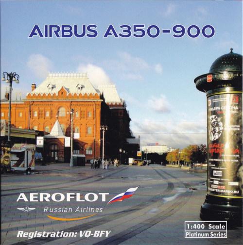Aeroflot 俄罗斯航空 Airbus A350-900 VQ-BFY  PH11603 Phoenix 1:400