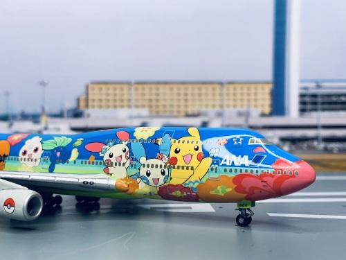 ANA 全日空 Boeing 747-400 JA8956 OHANA JUMBO NH40011 Hogan 1:400