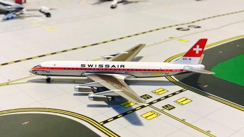 Swissair 瑞士航空 Douglas DC-8 HB-IDA  ACHBIDA AeroClassics 1:400