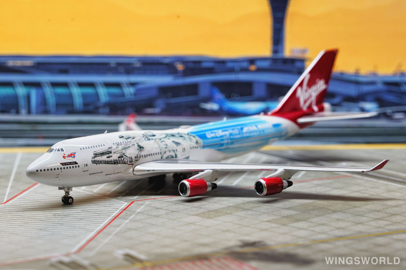 Phoenix 1:400 PH04322 Virgin Atlantic Airways 维珍航空 Boeing 747-400 G-VLIP