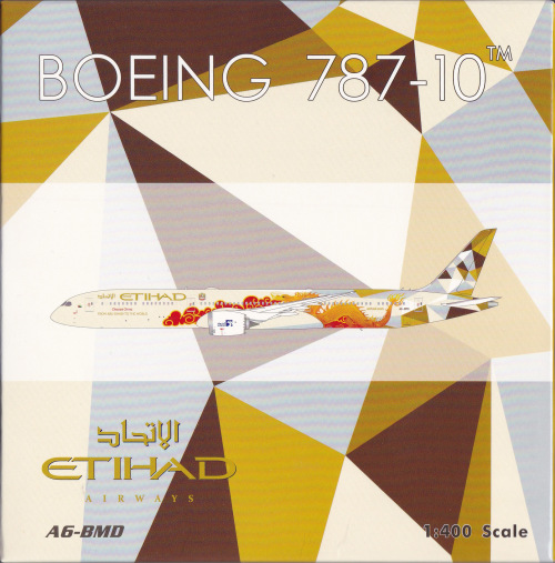Etihad Airways 阿提哈德航空 Boeing 787-10 A6-BMD 中国龙彩绘 PH04326 Phoenix 1:400
